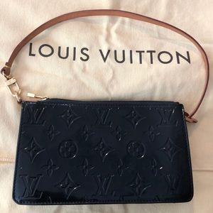Louis Vuitton Pochette Black Patent Leather Purse